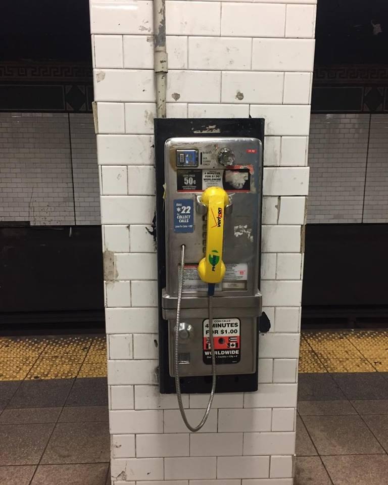 ニューヨークの旅 地下鉄の電話(2016年11月19日)