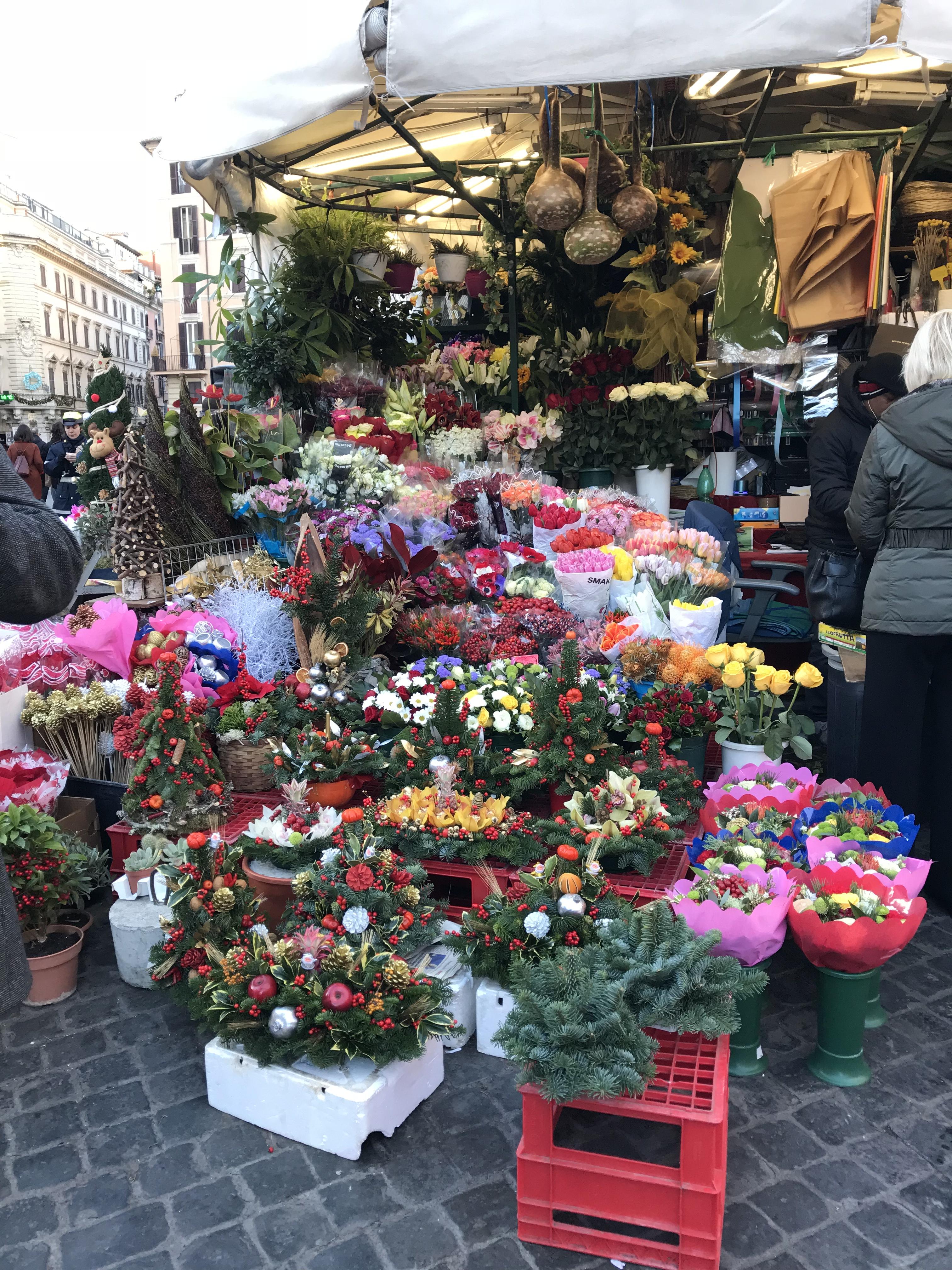 ローマ ローマのクリスマスの装飾 2017年12月