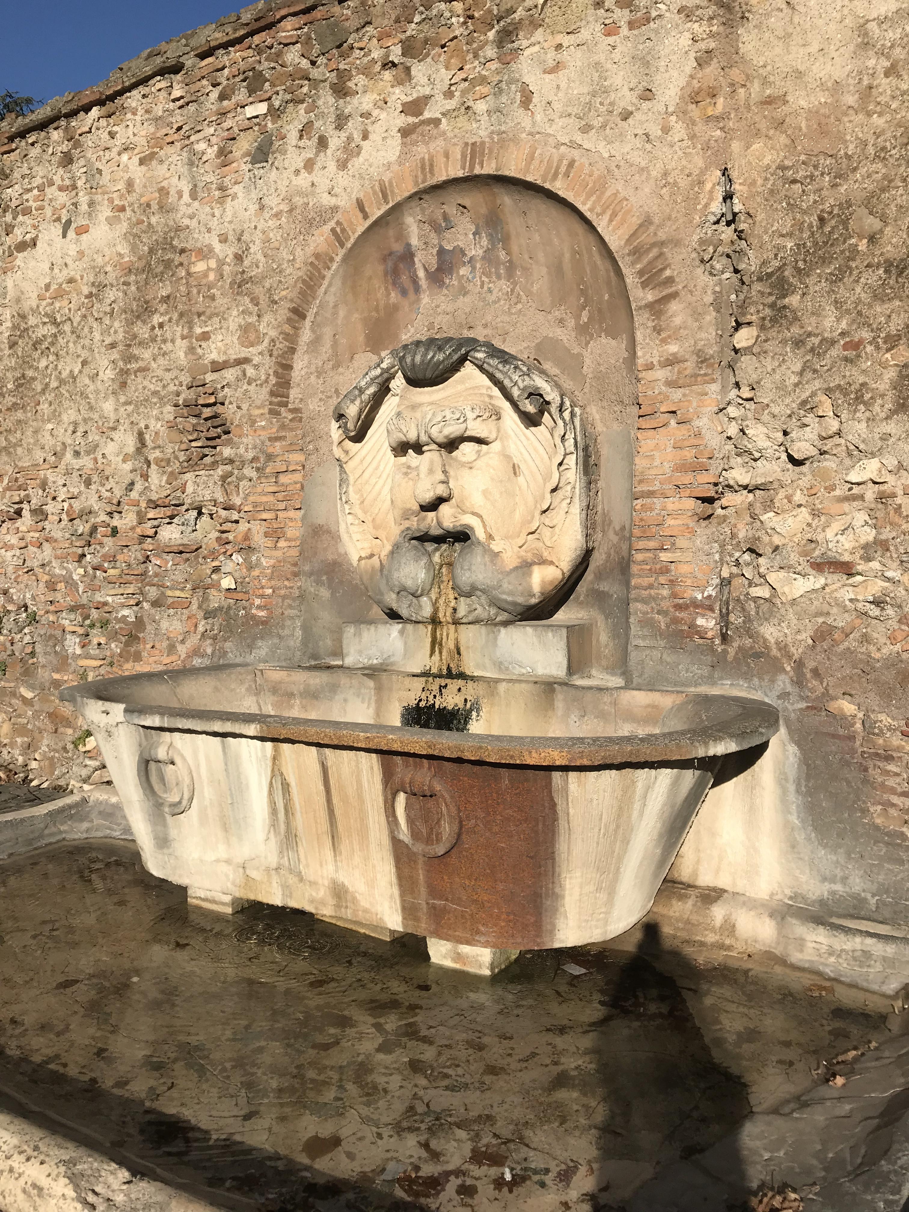 ローマ ローマの噴水 2017年12月