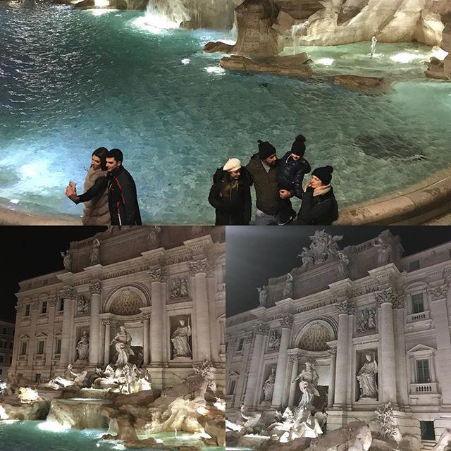 ローマ観光最終日 夜のトレビの泉