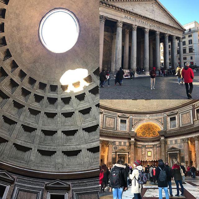 パンテオン なんで天井に穴が空いているのか? こちらも詳細レポは後ほど!#roma #itary #ローマ #イタリア #海外旅行 #パンテオン
