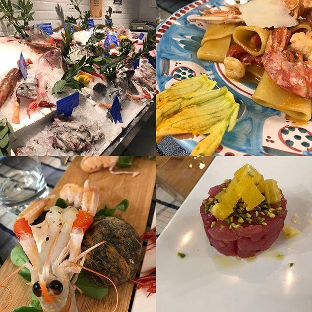 ローマ観光の二日目の夕飯 シーフードが自慢のレストラン