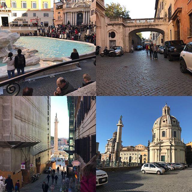 ローマ観光最終日。今日は主人のリクエストで今までの復習(^。^) トレビの泉からヴェネティア広場まで。小さな車とバイクが多いです!後ほど日本で詳細レポ書きます。#ローマ #イタリア #海外旅行 #roma #itary
