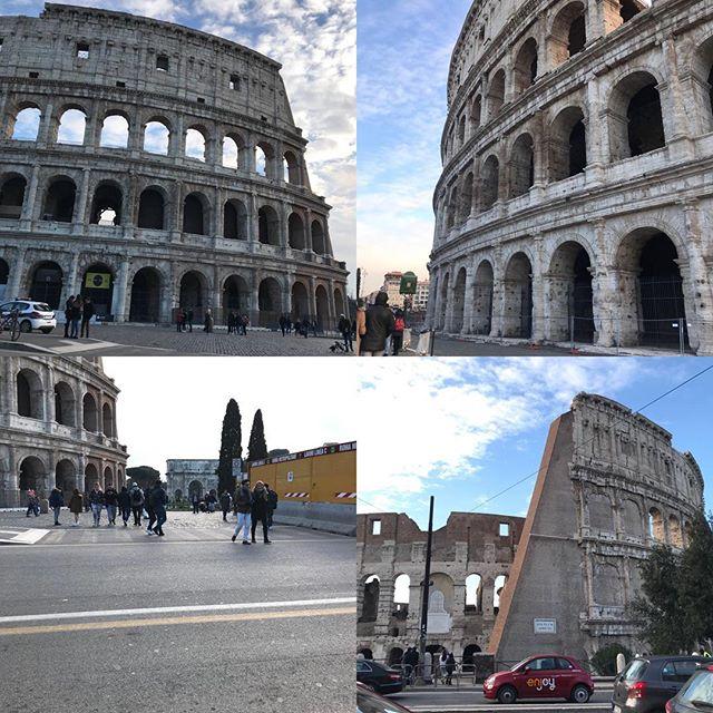 ローマ観光4日目 午後、寒くてもう歩きたくないので、トラムに乗って車内から景色を見る事に。どこへ行くかよくわからないけど、市内で走っているからなんとかなるだろうと乗車!1週間乗り放題券だからお金の心配もなし。コロッセオが見えて来たので急いで降りました(^。^) そのあとバスでホテルまで帰りました。バスの乗り方もだんだんわかって来たよ(^。^) 後ほど日本で詳細レポ書きます。#ローマ #イタリア #海外旅行 #roma #itary