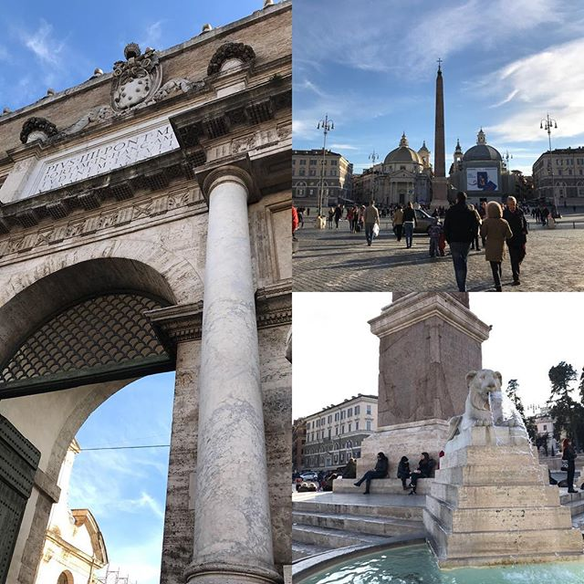 ローマ観光の初日午後。地下鉄に乗ってフラミーニオ駅で降りた。ポポロ広場を観光。詳細は後ほど!#イタリア #ローマ #ポポロ広場 #roma #itary #piazza del populous