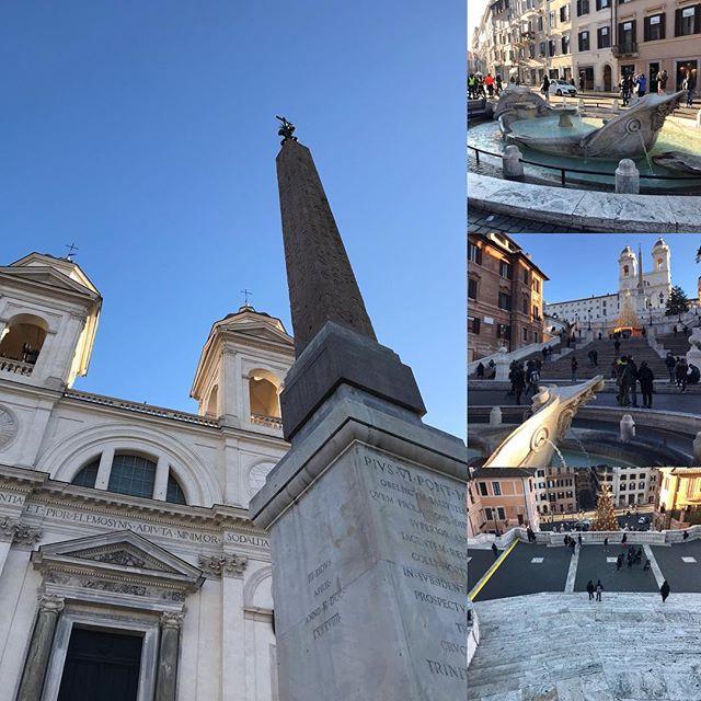 スペイン広場の続き。ガイドさんが、バルベリーニ広場からスペイン広場の上に出る道を案内してくれました。4枚目の画像は上から見下ろしたスペイン広場!最初の画像のトリニタ・デイ・モンティ教会は、急な崖の上にあったので、教会へ行きやすくするためにこのスペイン階段が作られたそうです。階段下には舟の噴水があります。テヴェレ川が氾濫し、水が引いたあと舟だけが残っていたそうで、それにちなんで舟の噴水を作ったそう。この噴水の作者もベルニーニ。当時は貴族とか教会とか、建築家や芸術家にこんな仕事を依頼していたんですね。どんだけお金持ちだったんだろう?#roma #itary #ローマ #イタリア #海外旅行 #スペイン広場
