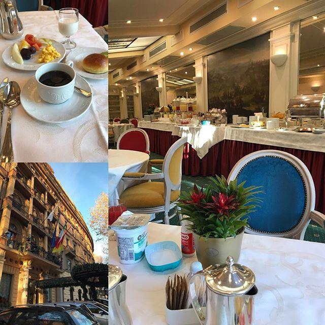 ローマ観光の二日目  朝食 今日からは完全に個人旅行