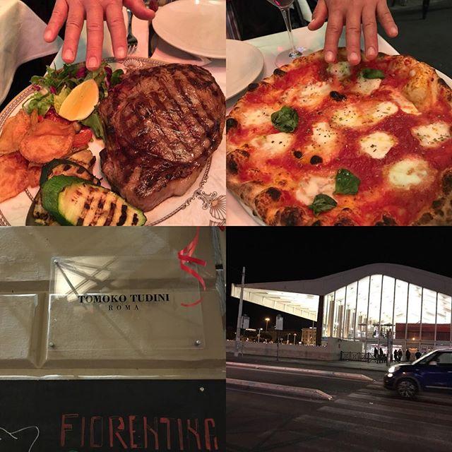 ローマ観光の初日の締め。日本人のトモコさんの名前が付いたこのレストラン、トモコ・ツゥディーニ。残念ながらトモコさんはいらっしゃいませんでした。とにかくお肉もピザもデカイ(≧∀≦) 詳細は後ほどブロブに書きます!#イタリア #ローマ #テルミニ #roma #itary #Tomoko Tudini #Termini