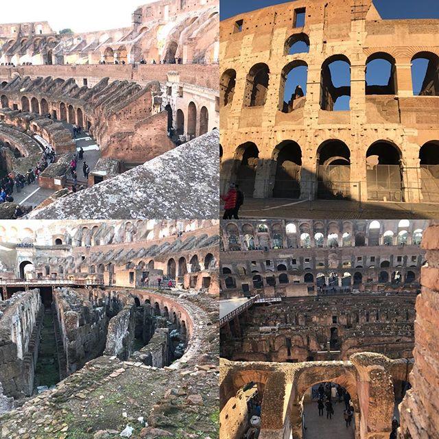 ローマ観光最終日。今日は主人のリクエストで今までの復習。コロッセオはやっぱりすごい! 後ほど日本で詳細レポ書きます。#ローマ #イタリア #海外旅行 #roma #itary