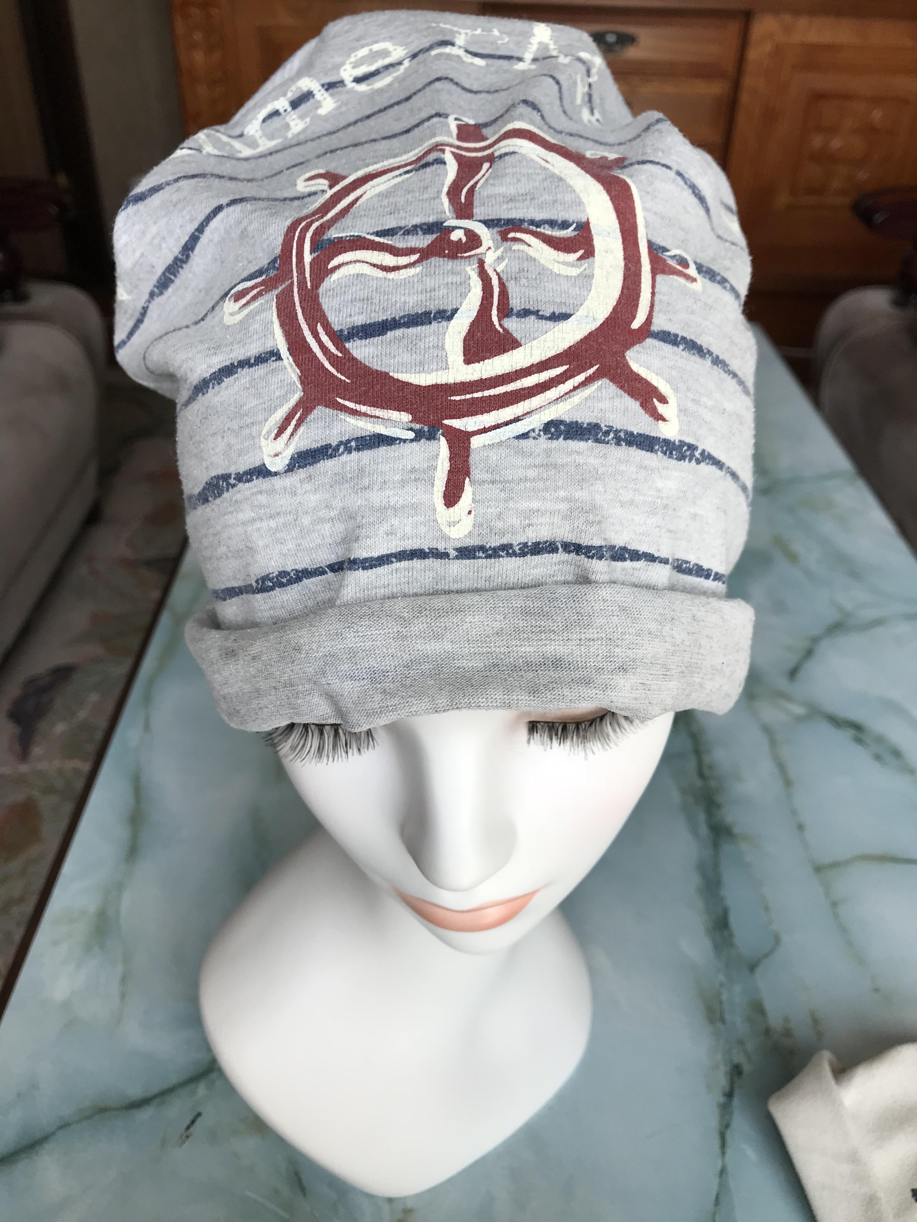 抗がん剤用 ケア帽子 Tシャツをリメイクして作ってみた