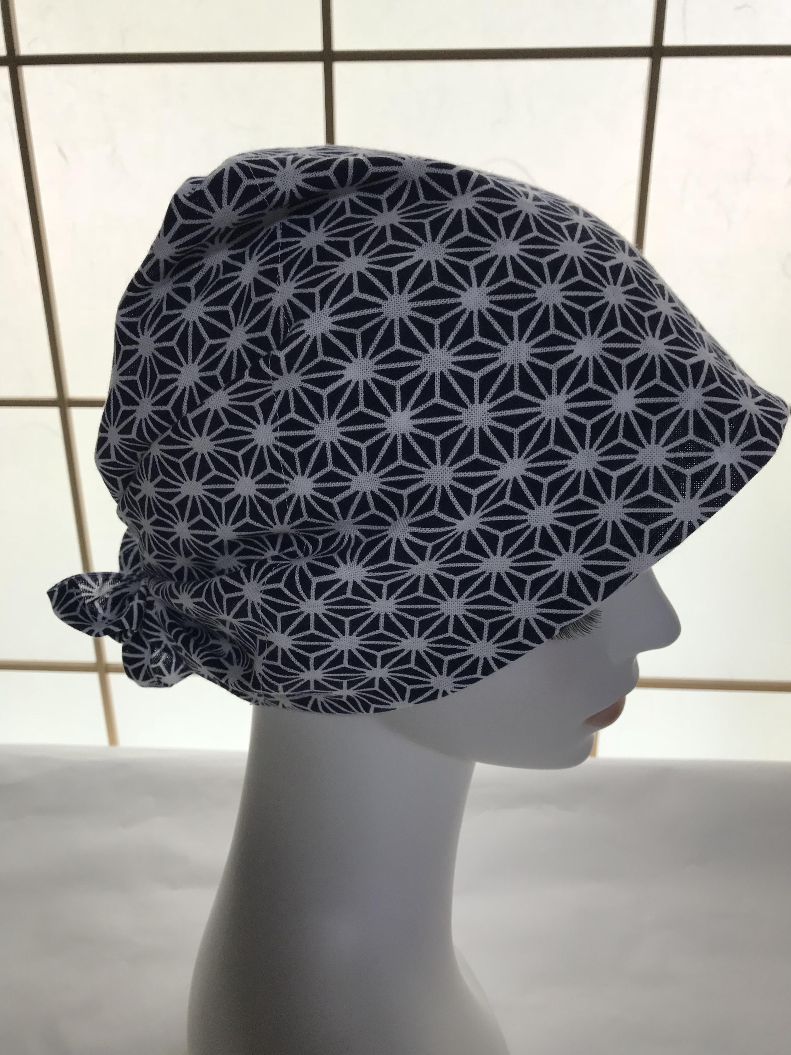 てぬぐいで抗がん剤用の帽子を試作