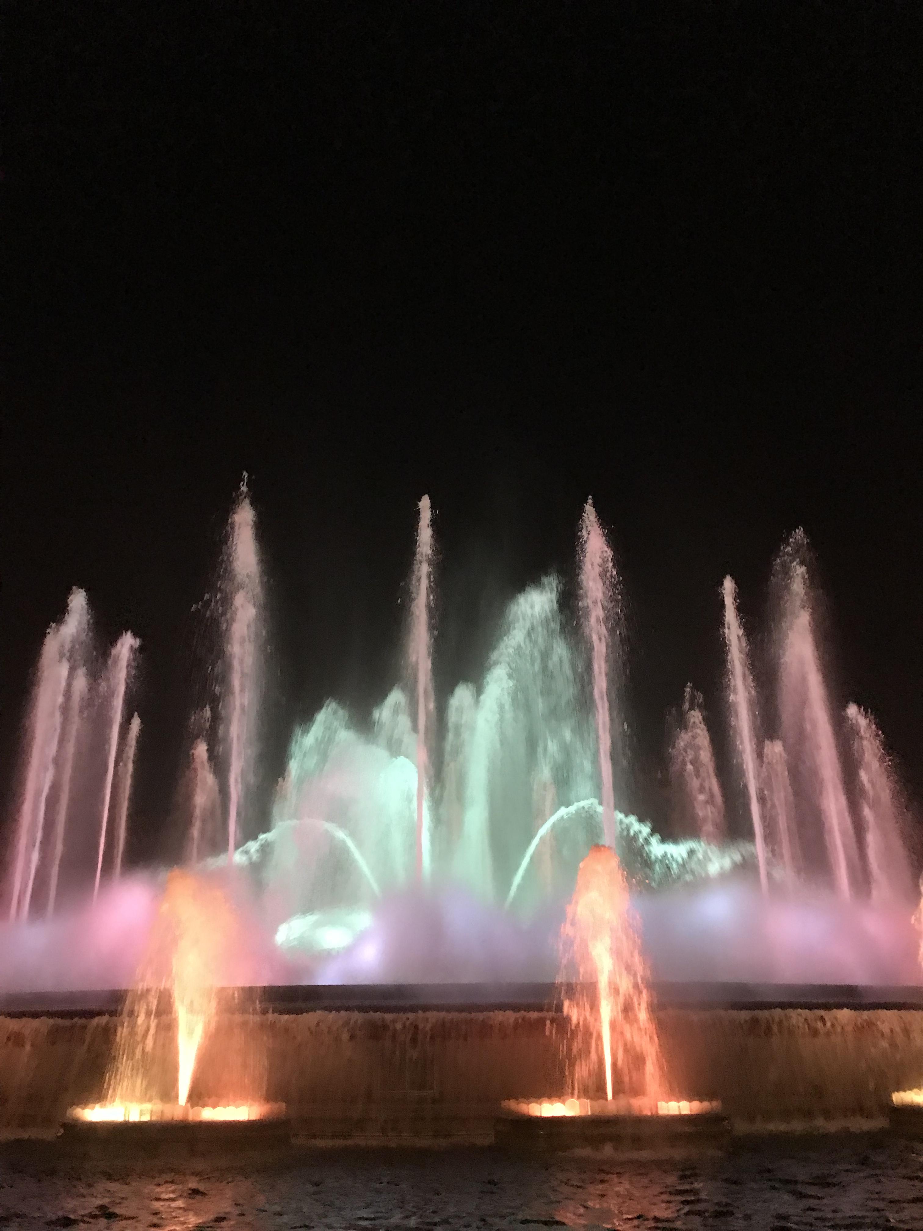 バルセロナ観光5日目 ミロ美術館 デパート(エル・コルテ・イングス)でランチ 夜は噴水ショー