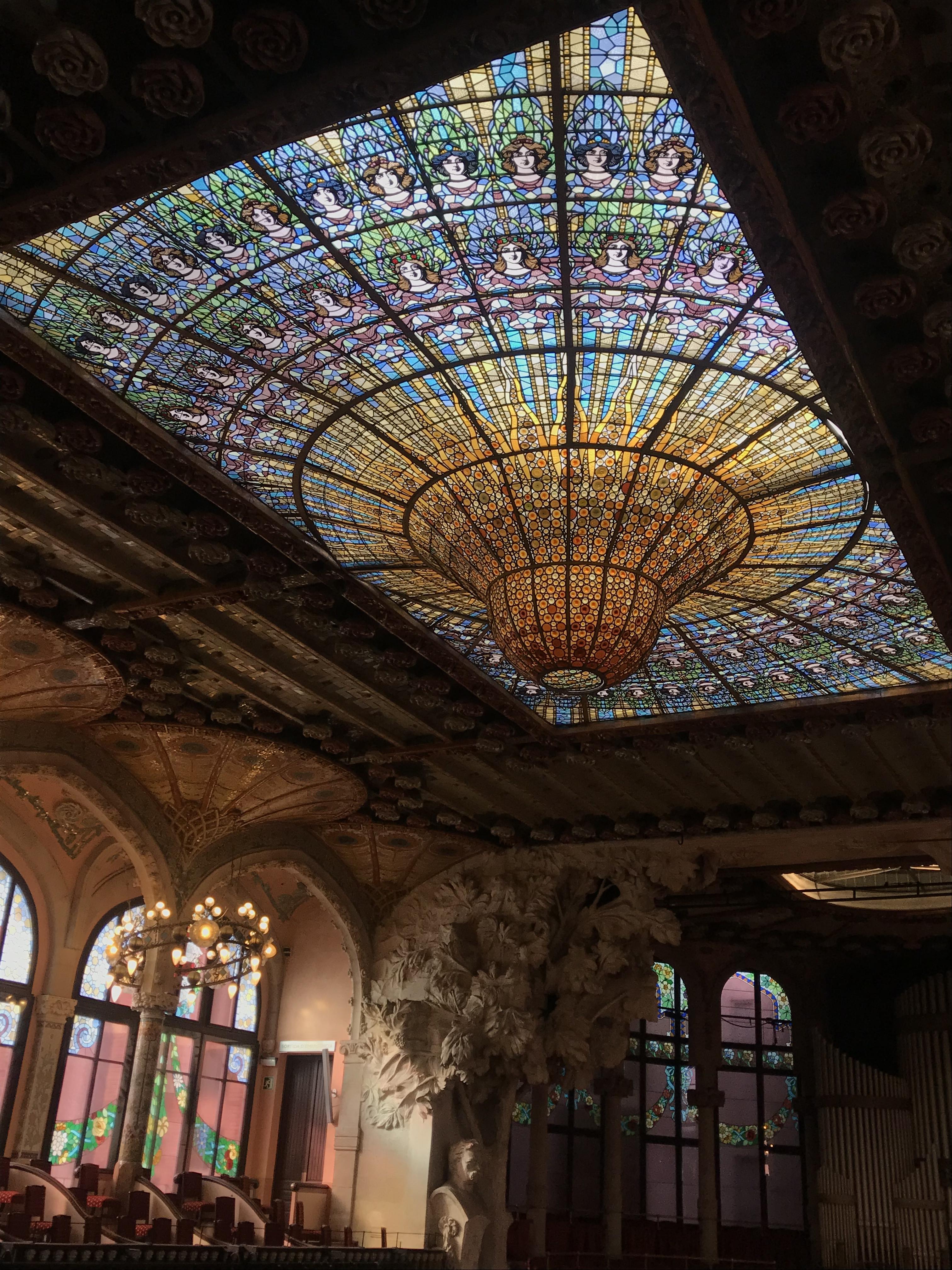 バルセロナ旅行記 カタルーニャ音楽堂