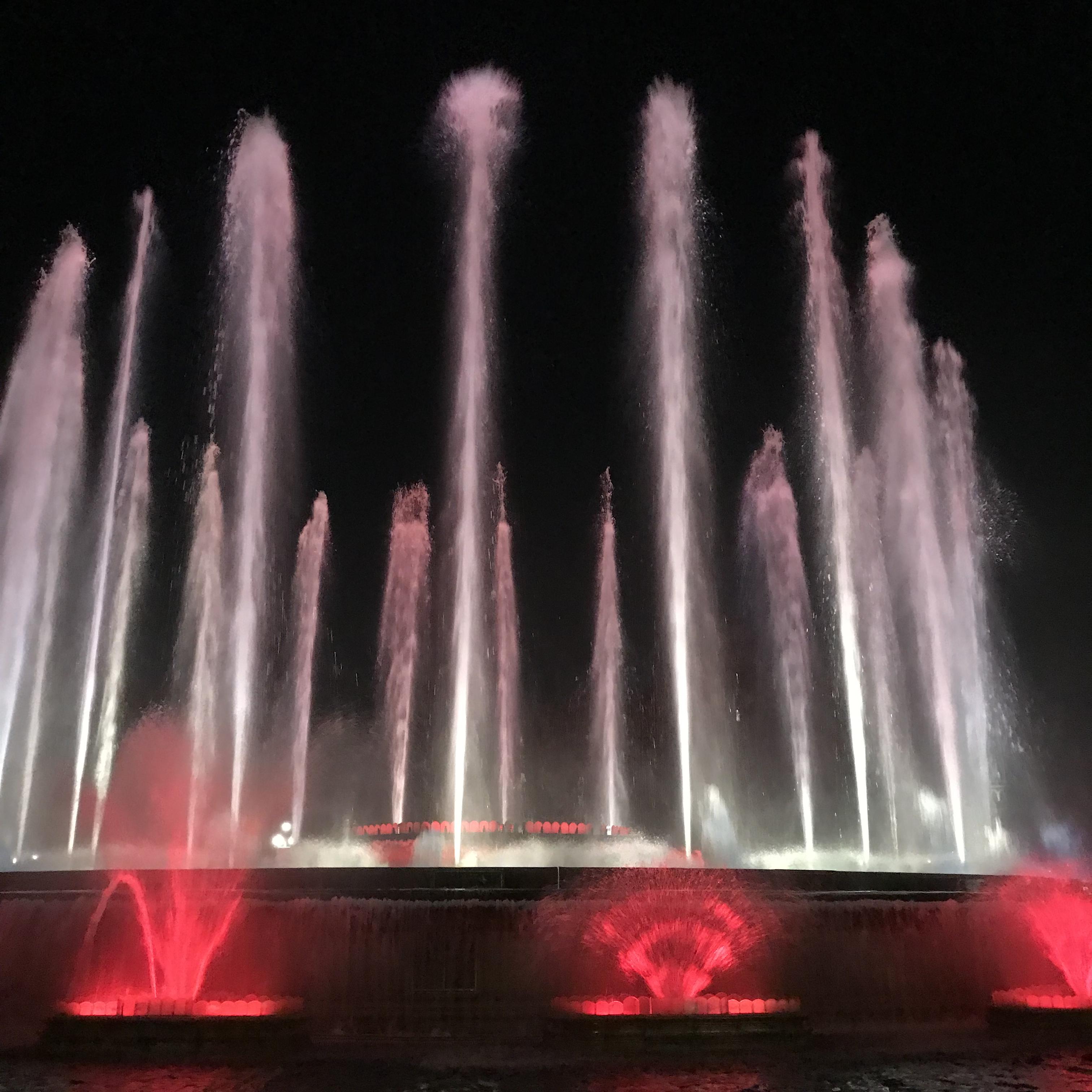 バルセロナ旅行記 マジカの噴水ショー