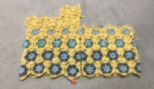 手編みカーディガン進捗状況