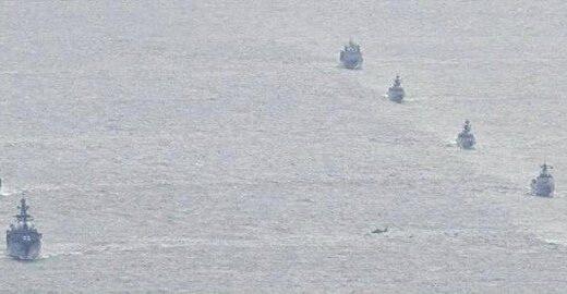 中露の艦艇 津軽海峡を通過 日本列島を南下し大隅海峡も通過